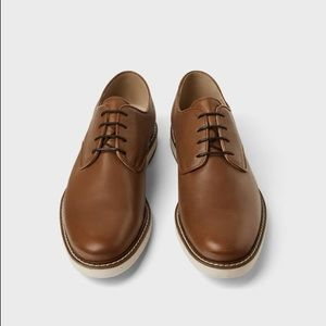 Zara embossed leather sports shoes